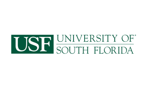 Logo of USF for our ranking of best online master of library science degrees