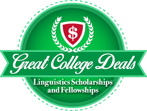 Great College Deals Badge for our ranking of linguistics scholarships