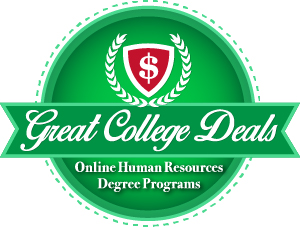 Badge for our ranking of best online Human Resources degree programs